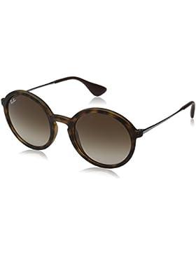 Ray-Ban 0Rb4222 Gafas de sol, Redondas, 50, Dark Rubber Havana