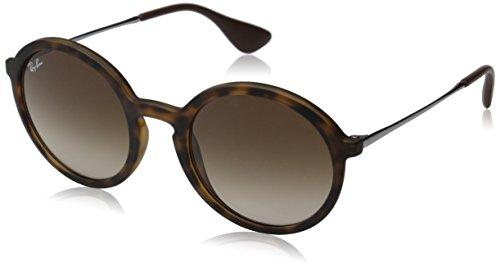 Rayban Unisex Sonnenbrille RB4222, Mehrfarbig (Gestell: Havana/Gunmetal, Gläser: Braun Verlauf 865/13), Medium (Herstellergröße: 50)