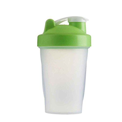 Mengonee 400ml-Shake Gym Protein Shaker Mixer Getränk Whisk Kugel Tragbare Leakproof Sports Camping Shaker Trinkflaschen