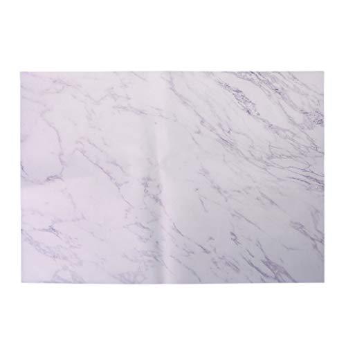 Fafalloagrron Marmor-Muster Platzset Geschirruntersetzer Küche Hochzeit Party Home Decor, weiß, 18.11x12.60in