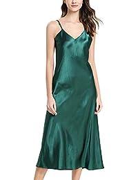 5ea5ceeb58 YAOMEI Camicia da Notte Donna Lungo Pigiama Pigiami Raso, Luxury della  Biancheria della Cinghia di