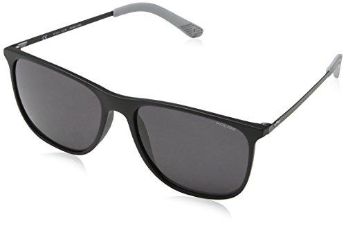 Police Herren Edge 5 Sonnenbrille, Schwarz (Rubberized Black), 57