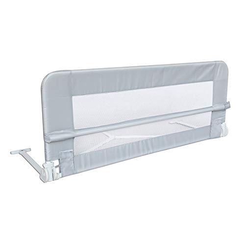Leogreen - Barrière de Sécurité pour Lit de Bébé, Barrière de Sécurité Pliable, 1,02 mètre(s), Gris, Matériau: Tissu en nylon