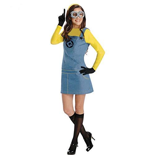 hhalibaba Disfraz de Halloween para Mujer Mono Adulto Despicable Me Anime Cosplay Juegos de rol Femeninos Disfraz de Fiesta Vestido