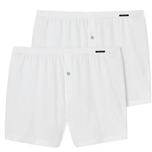 Schiesser Herren Unterhose Boxershorts 2 X Weiß