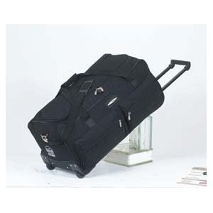 Jeep Wheeled Holdall 31 inch Luggage Bag with Wheels Black 543K