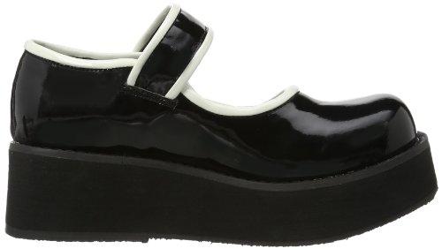 Demonia  SPRITE-01, chaussures bateau femme Noir (schwarz)