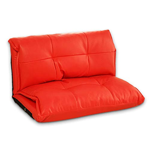 Position Lounge (Wuxingqing Klappstühle Verstellbare Position Floor Lounger Lounge Schlafsofa Folding Sleeper Futon Matratze Sitz Stuhl Erkerfenster Sofas (Farbe : Rot, Größe : 100 * 210 * 26cm))