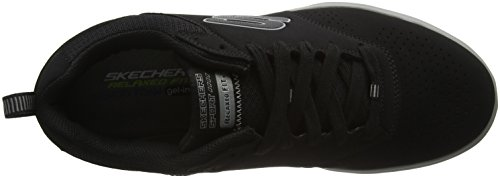 Skechers Arcade Ii Magavin, Baskets Basses Homme Noir - Black (Bkgy - Black Grey)