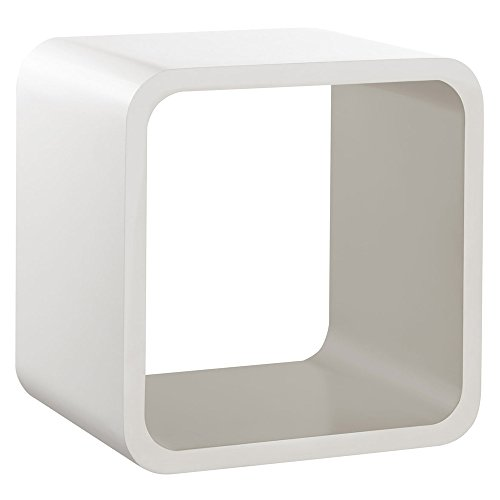 REGALRAUM Wandregal/Würfelregal SOFTCUBE   Retro Lounge Cube Design   26x20x26 cm - weiß/taupe