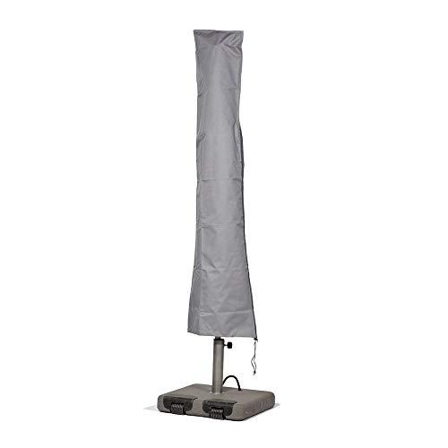 Mehr Garten Marktschirm Sonnenschirm Schutzhülle/Abdeckhaube - Premium/wasserdicht/Polyester Oxford 600D grau - Durchmesser 350-450cm