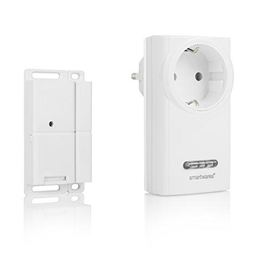 Smartwares Funk-Abluftsteuerung mit Fenster-Magnetkontakt und Funksteckdose für Dunstabzugshaube, Sh5-SET-KHC -