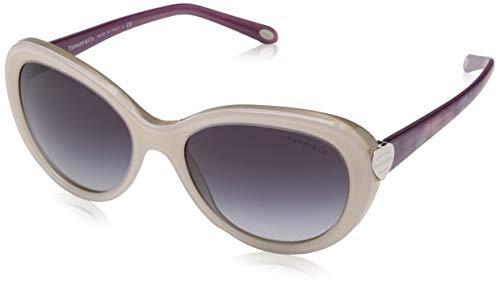 Tiffany & Co. Unisex TF4113 Sonnenbrille, Weiß (White 81703C), One size (Herstellergröße: 55)