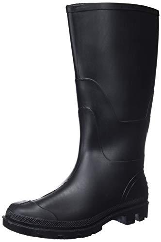 Portwest FW90 Stivale PVC Wellington O4 Stivali di gomma da lavoro, Unisex - Adulto, SRC, Nero (Nero Bkgr), 48 EU (13 UK)