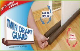 Twin Door Draft Guard. Stop Unwanted light and Stop escaping of cool air from air conditioner split or Window by Bhagwati Enterprise  available at amazon for Rs.220