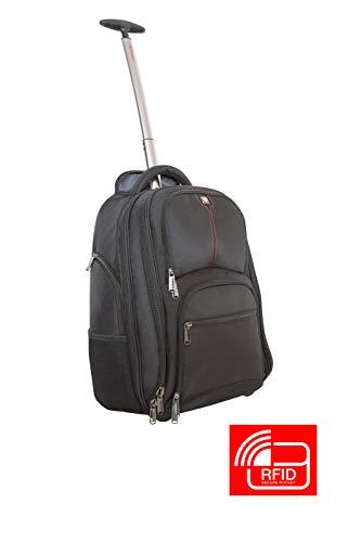 Verbatim Rucksack mit Rollen, Roller Backpack für Notebooks bis 43,2 cm (17 Zoll), Modell Paris, schwarz, 49852