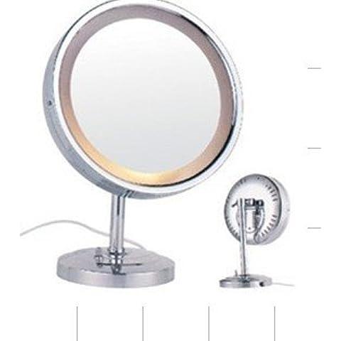 Specchio di rame illuminate a LED specchio cosmetico tabella specchio,9 pollici lampadine