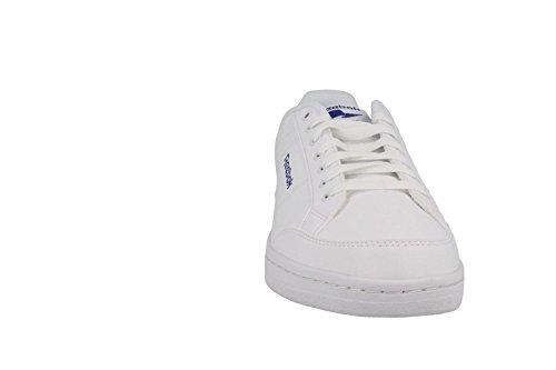 Reebok Royal Smash, Chaussures de Sport Homme Blanc Cassé - Blanco (White / Team Dark Royal)