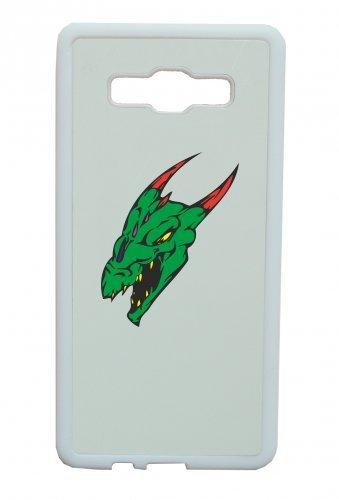Smartphone Case Dragon drago testa verde rosso Corna per Apple Iphone 4/4S, 5/5S, 5C, 6/6S, 7& Samsung Galaxy S4, S5, S6, S6Edge, S7, S7Edge Huawei HTC-Divertimento Motiv di cult