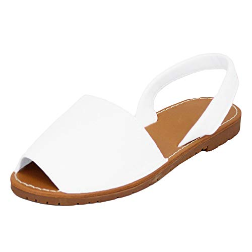 Minetom Frauen Bandage Knöchel Wrap Espadrille Flachen Sandalen Flip-Flop Sommer Lace up Platform Sandalen Weiß EU 39 - Wrap Sandalen