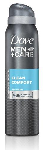 Dove Men+Care Clean Comfort Deospray, 6er-Pack (6 x 150 ml) -