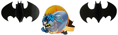 Amscan-International-291386-Batman-Honeycomb-Dekorations-Set -