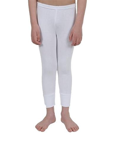 Boys Thermal Underwear British Made Long Pants White 6/8