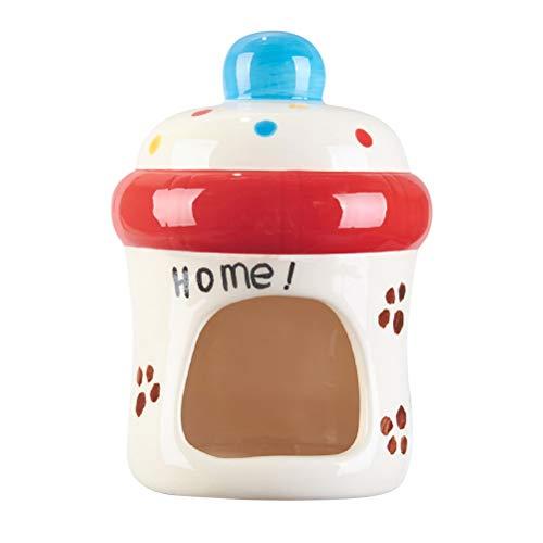 POPETPOP Hamster Käfig Kleintier Käfig Pet Nest Sommer Cool Keramik Cartoon Milchflasche Form für Sugar Glider Baby Bär Kleintier