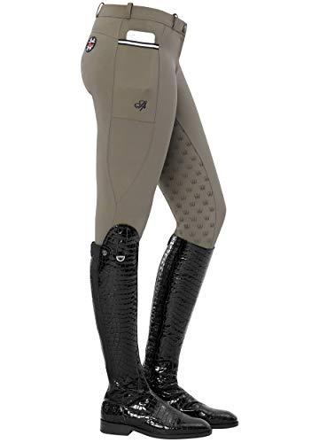 SPOOKS Damen Reithose Vollbesatz, leichte Damenreithose Reithosen Turnierreithose Vollbesatzreithose - Leena Light Full Grip Stone XL