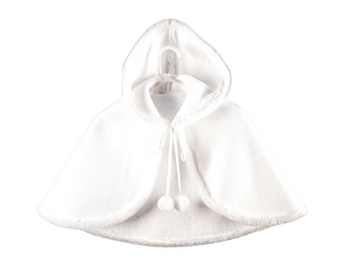 MGT-Shop Baby Mädchen Taufmantel Taufbolero Taufjacke Taufe Taufcape Taufbekleidung weiß PCH-2 (74, weiß)