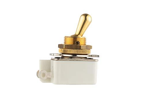 Interruptor de conmutación, único polo (SPST), 2 Amp 250 Vac, palanca de...