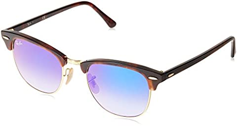 Ray-Ban Clubmaster Outsiders, Lunettes de Soleil Mixte, Multicolore-Mehrfarbig (Gestell: Rot