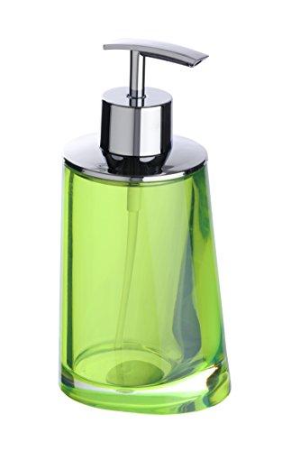 Wenko Paradise Green - Dispensador de jabón, de acrílico, 8 x 16.2 x 6.7 cm, color verde