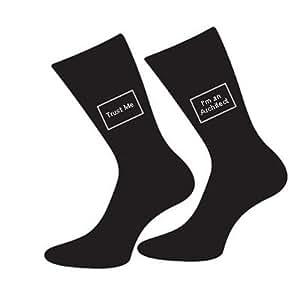 Trust Me I'm A Architect Design Cotton Rich Socks (x6s054)