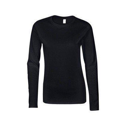 Gildan - T-shirt à manches longues - Femme (L) (Noir)