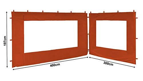 QUICK STAR 2 Seitenteile für Blätter Pavillon 3x4m Seitenwand Terra