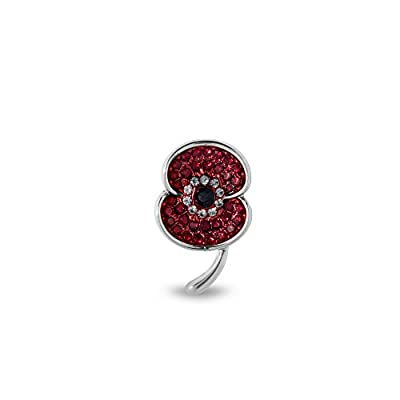 The Royal British Legion The Poppy Collection Vintage Lapel Pin Silver Tone