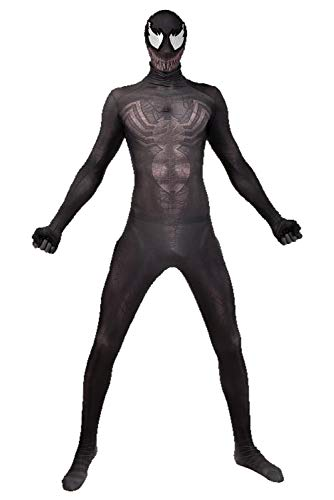 RedJade Venom Spider Man Uniform Jumpsuit Overall Bodysuit Outfit Cosplay Kostüm Herren M