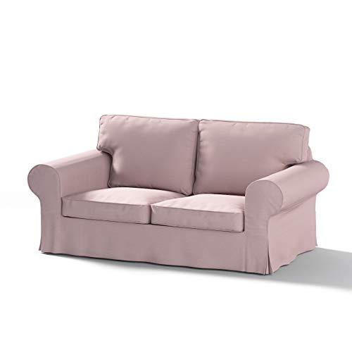 Dekoria Ektorp 2-Sitzer Sofabezug Nicht ausklappbar Sofahusse passend für IKEA Modell Ektorp rosa