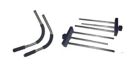 Super Extended Vise Grip Locks and Elongated Curved Bars for Gorilla Gym (Vise-lock)