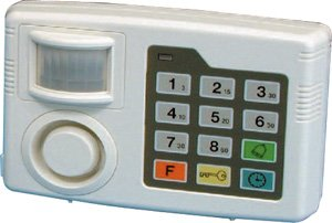 Home Security Mini Single Room Infrared Wireless P.I.R. Alarm Kit Door Window Entry Chime for House Garage Shed Caravan Indoor Digital Keypad System Siren Alert Motion Sensor