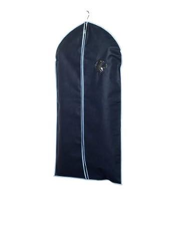 H & L Russel Housse de protection pour costume Bleu marin/liseré bleu