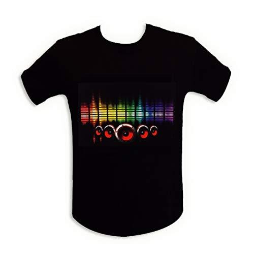 T-shirt sono lumineuse LED equalizer lumineux enceinte M