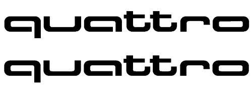 Audi quattro pareja de vinilos