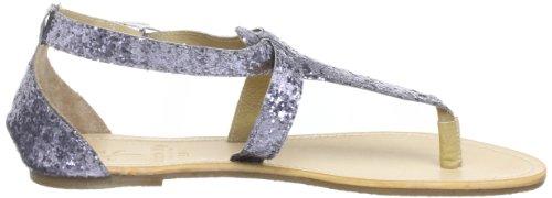 Sandale Pailletée Cecilia Black Lily, Sandales String Femme Bleues (blau (paillettes))