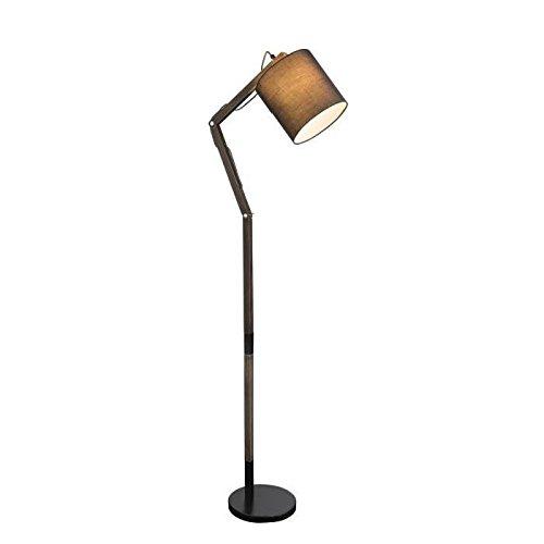 GLOBO LIGHTING Lampadaire métal noir - H 160 cm - Abat-jour gris