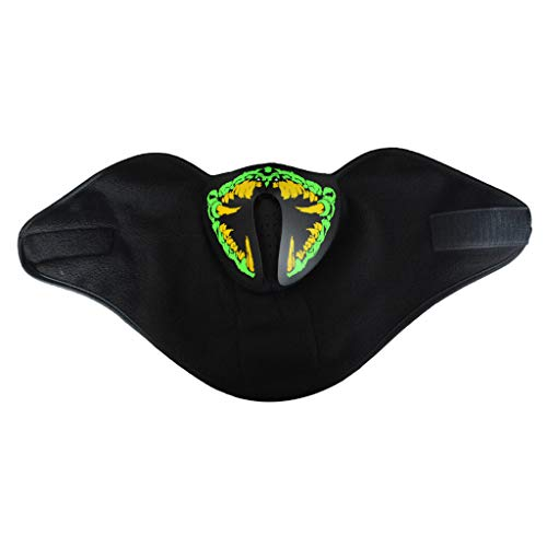 TIREOW Luminous Voice-Activated Music Mask, Kleidung Big Terror LED Kaltlicht Halloween Masken für Party Kostüm
