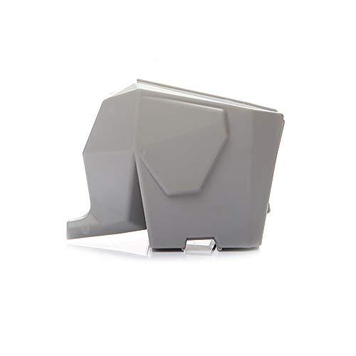 LHY Kitchen Escurridor de Cubiertos Creativo multifunción Taza de Control Tres en uno/Cepillo de Dientes/Taza de Almacenamiento de vajilla/Porta bolígrafo/Maceta de Elefante,Gris