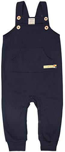 loud + proud Unisex Baby Bio Baumwolle, GOTS Zertifiziert Latzhose, Blau (Navy Ny), (Herstellergröße: 98/104)