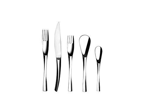 DEGRENNE - XY Mirror Flatware 5 Pieces Set, Stainless steel